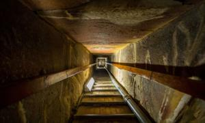 Stairway of the tomb in the center of the Great Pyramid. Source: witthaya / Adobe Stock.