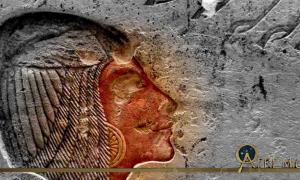 This painted limestone relief originally depicted Kiya, but was later recarved to portray Meritaten; design by Anand Balaji (Photo credit: Merja Attia, Ny Carlsberg Glyptotek, Copenhagen); Deriv.