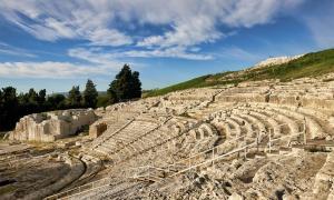 The Greek theatre of Syracuse, Sicily            Source: Marco Brivio / Adobe Stock