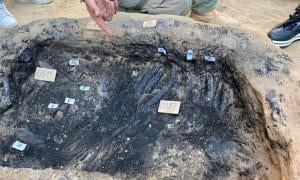 The remains of what appears to have been a unique funeral ceremony and Greek burial have been discovered at the ancient colony of Gela in southern Sicily. Source: Superintendence of Caltanissetta