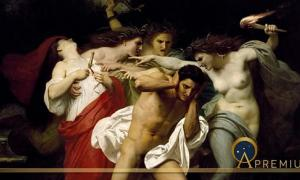 Orestes Pursued by the Furies by William-Adolphe Bouguereau (1862) (Public Domain)