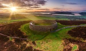 Grianan of Aileach ring fort, Donegal, Ireland.
