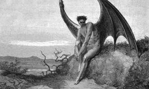 Gustave Doré, illustration to Paradise Lost, book IX, 179–187, depicts the Devil with hooved feet