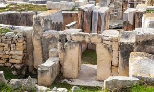 Hagar Qim megalithic site in Malta