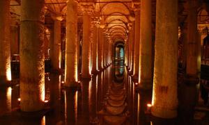 Part of the Basilica Cistern, near the Hagia Sophia.