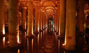 Part of the Basilica Cistern, near the Hagia Sophia.