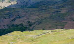 Hardknott Roman Fort in Cumbria, England