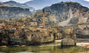 View of the ancient town of Hasankeyf in Turkey.