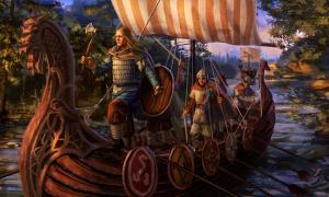 Vikings on a ship.