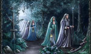 Haunting and beautiful Middle-Earth-like elves by artist