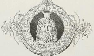 Head of Serapis with zodiac