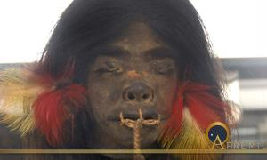 Shrunken head from the upper Amazon region