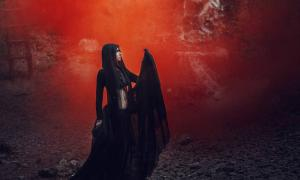 Representation of Hel, the Norse goddess of the Underworld