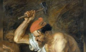 Hephaestus in 'Vulcan forging the Thunderbolts of Jupiter' (1636-1638) by Peter Paul Rubens.