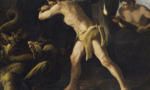 Hercules Fights the Hydra of Lerna, a painting by Francisco de Zurbarán