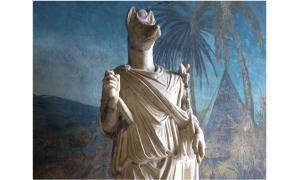 Statue of Hermanubis, a hybrid of Anubis and the Greek god Hermes.