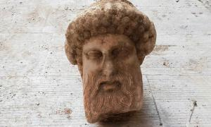 Sewage Construction Uncovers Head of Greek God Hermes in Athens