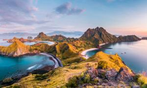 Padar Island, Flores, Indonesia, part of the Wallacea group of islands.