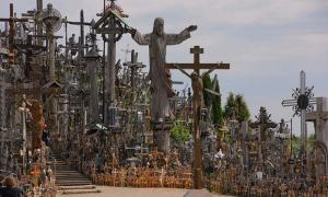 A view of the Hill of Crosses.