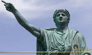Statue of The Roman Emperor Nero by Claudio Valenti, Anzio (anc. Antium) Italy.