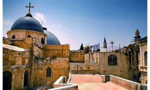 Domes of the Church of the Holy Sepulchre.
