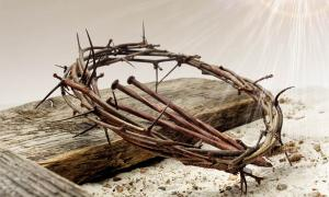 Representation of holy nails of the Crucifixion and crown of thorns.	Source: vetre / Adobe Stock
