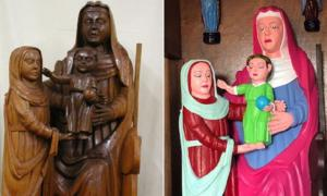 Virgin and Child with saint Anne sculptures from the 15th century