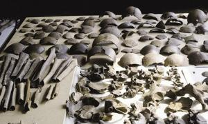 Human bones dating to the Late Iron Age.