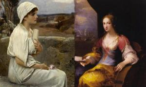 Hypatia. Signed A. Seifert. Oil on panel, St Catherine of Alexandria