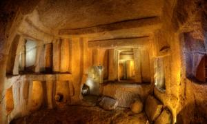 The Hypogeum in Malta, which is known to create specific sound frequencies, which have an effect on the human body