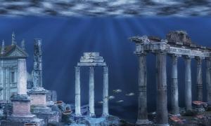Atlantis underwater ruins