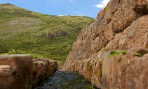 An Inca-era water canal at Tipón, Peru