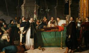 The Funeral of Atahualpa by Luis Montero