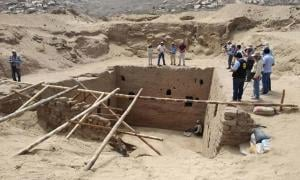 The Inca tomb found at Mata Indio archaeological site.