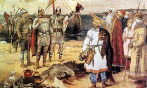 The Invitation of the Varangians.