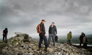 Michael McDonagh, Head of National Monuments, inspecting the damage at Ballygawley, a famous Irish Neolithic site.          Source: Sligo Neolithic Landscapes