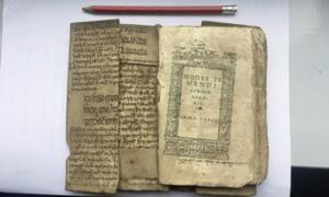 Portion of Ibn Sīna's Canon of Medicine folded into medieval text
