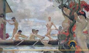 Odysseus and the Sirens by Otto Greiner  (1869–1916) (Public Domain)