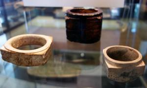 Jade Cong, c. 2500 B.C.E., Liangzhu culture, Neolithic period, China (British Museum)