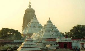 The Jagannath Temple in Puri.