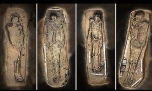 3D renderings of the Jamestown skeletons, Jamestown,USA