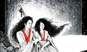 Japanese creation god and goddess Izanagi and Izanami