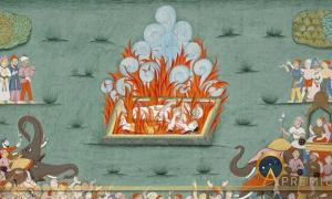 The Sati of Ramabai, Wife of Madhavrao Peshwa (reigned 1761-1772) (Public Domain)