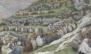 The Miracle of the Loaves and Fishes by James Tissot, Brooklyn Mueum.