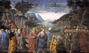 Was Jesus literate? Jesus speaking with The Twelve Apostles             Source: Domenico Ghirlandaio / Public domain