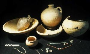 Some of the artifacts discovered in the ancient city of Jericho.