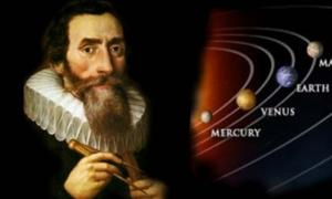 Kepler and part of his heliocentric Solar System,