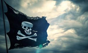 A Jolly Roger, the infamous pirate flag