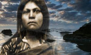 Deriv. Image of Native American woman, believed to be Juana Maria, of the Nicoleño tribe