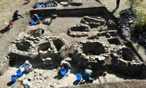 The remains of an ancient temple have been discovered during the Kahin Tepe excavation in Kastamonu, Turkey. Source: Özgür Alantor / Anadolu Agency